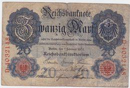 Germany P 31 - 20 Mark 7.2.1908 - Fine - [ 2] 1871-1918 : Impero Tedesco