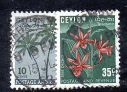 T1972 - CEYLON SRI LANKA 1951 , Yvert N. 286/287  Usata - Sri Lanka (Ceylon) (1948-...)