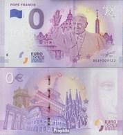 Vatikanstadt 0 Euro Souvenirschein Bankfrisch 2018 Papst Franziskus - Vatican