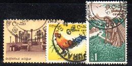 T1989 - CEYLON SRI LANKA 1964 , Yvert N. 346/348  Usata. - Sri Lanka (Ceylon) (1948-...)