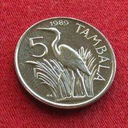 Malawi 5 Tambala 1989  Bird UNCºº - Malawi