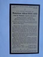Réf: 41-17- 39   ROUARD Alfred Né Et Mort à CINEY   Veuf De CHAPUT Amélie. - Décès