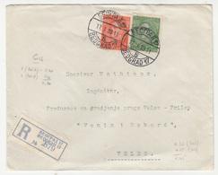 Yugoslavia, Letter Cover Registered Travelled 1933 Beograd To Veles B181020 - 1931-1941 Kingdom Of Yugoslavia