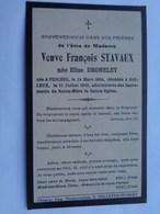 Réf: 41-17-40.   DROMELET Elise Née à PESCHES DCDée à BAILEUX  Vve STAVAUX François. - Décès