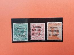 TERRE REDENTE - VENEZIA TRIDENTINA - Nn. 28/30 ** - Varietà 10h E 20h Lettera Mancante - Buona Centratura +spese Postali - Venezia Giulia