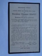 Réf: 41-17-43   CHAPUT Clément Né Et Dcd à CINEY  époux De QUINET Palmyre. - Décès