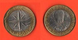 1.000 1000 Lire San Marino 1999 Allegoria Antica  Bimetallic - San Marino