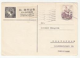 Yugoslavia, D. Brus Postal Card Travelled 1959 Zagreb Pmk B181020 - 1945-1992 Socialist Federal Republic Of Yugoslavia