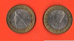 1.000 1000 Lire San Marino 2000 Libertà  Bimetallic - San Marino