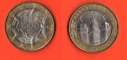 1.000 1000 Lire San Marino 2001 Libertà  Bimetallic - San Marino
