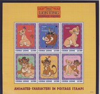 SIERRA LEONE 1998 BLOC DISNEY-ROI LION  YVERT  N°2539/44  NEUF MNH** - Disney