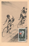 D35513 CARTE MAXIMUM CARD SAAR 1955 - CYCLING WORLD CHAMPIONSHIP CP ORIGINAL - Cycling