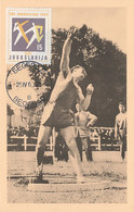 D35514 CARTE MAXIMUM CARD 1960 YUGOSLAVIA - SHOT PUT ATHLETICS OLYMPICS CP ORIGINAL - Athletics