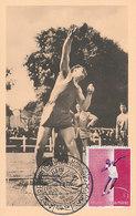 D35515 CARTE MAXIMUM CARD 1960 SAN MARINO - SHOT PUT ATHLETICS OLYMPICS ROME CP ORIGINAL - Athletics
