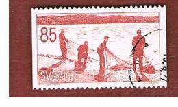 SVEZIA (SWEDEN) - SG 893 - 1976 SEINE-NET FISHING    - USED° - Svezia