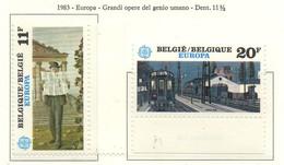 PIA  -  BELGIO  -  1983  :  Europa  (Yv 2091-92) - Europa-CEPT