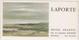 Rennes 35 Bretagne France -invitation Exposition Georges LAPORTE -hotel Frantel  Maignan -1975 H. Queffelec - Huiles