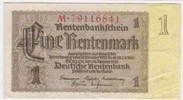 Germany P 173 B - 1 Rentenmark 30.1.1937 - VF - [ 4] 1933-1945 : Terzo  Reich