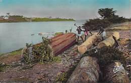 Afrique-CÔTE D'IVOIRE ABIDJAN La Baie De Cocody  (travail Du Bois)  ( - Editions   Estel Lavelle 4724) *PRIX FIXE - Côte-d'Ivoire