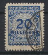 Deutsches Reich 319 B P 20 Mio Korbdeckel Gepr. Infla Dünsch Kat.-Wert 400,00 - Deutschland