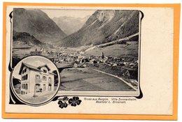 Gruss Aus Bergun Switzerland 1913 Postcard - GR Grisons