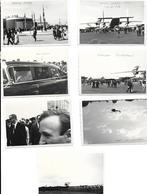 Photographie-Photos Originales Aviation -Lot De 7 MINI Photos Salon Aéronautique Espace 1965 (  McDivitt -Le Bourget ?) - Aviation