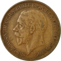 Monnaie, Grande-Bretagne, George V, Penny, 1927, TB+, Bronze, KM:826 - 1902-1971 : Monnaies Post-Victoriennes