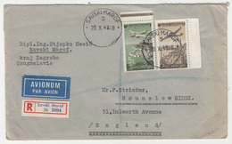 Yugoslavia, Letter Cover Registered Travelled 1948 Savski Marof To Hounslow (Middlesex) B181020 - 1945-1992 Sozialistische Föderative Republik Jugoslawien