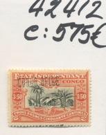 CONGO BELGE Surcharge N° 37 Locale 7 * Avec Charnière   Cote 575 € En 2019 - 1894-1923 Mols: Ungebraucht