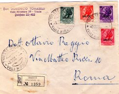Trieste    Storia Postale  Busta  Con Soprastampa AMG- FTT   Viagg. X Racc.  Trieste 8 - 7 - 1953 - 7. Trieste