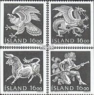 Island 684-687 (kompl.Ausg.) Gestempelt 1988 Staatswappen - 1944-... Republik