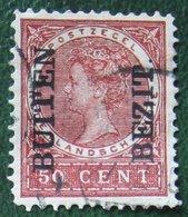 BUITEN BEZIT Overprint 50 Ct Wilhelmina NVPH 96 1908 Gestempeld / USED NEDERLANDS INDIE / DUTCH INDIES - Niederländisch-Indien