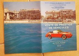 CATALOGUE DE VENTE DE PRESTIGE DE VEHICULES à Nice Au RULH PLAGE - Voitures