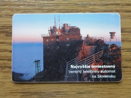 SLOVAKIA, USED PHONECARD. OBSERVATORY ON LOMNICKY STIT. Condition, See The Scans. - Astronomy