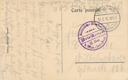 464/27 -- Carte-Vue De BRUGES Feldpostexp. Des 2 MARINE-DIV A 1915 - Cachet Kaiserliche Marine Inf. Regt - WW I