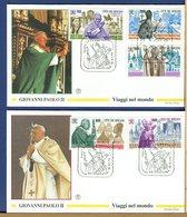 VATICANO - FDC FILAGRANO 1994 -  VIAGGI DEL PAPA NEL MONDO - FDC