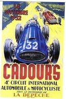 4e Circuit International Automobile & Motocycliste à Cadours 1952   -  Publicité  -  CPR - Grand Prix / F1