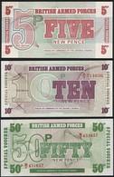 Great Britain SET - 5 10 50 New Pence 1972 6th Series - UNC - Emissioni Militari