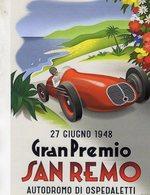 Gran Premio De San Remo  -  1948  -  Maserati   -  Publicité  -  CPR - Grand Prix / F1