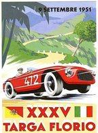 XXXVe Targa Florio  -  1951  -  Ferrari   -  Publicité  -  CPR - Grand Prix / F1