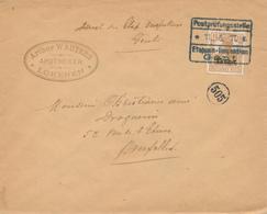 471/27 -- Lettre TP Germania Annulé Censure Des Etapes GENT 1917 - Cachet Apotheker Wauters à LOKEREN - Guerre 14-18
