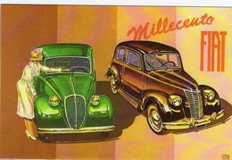 Fiat Millecento (1937)  -  Artwork By Brovarone   -  Publicité  -  CPR - Voitures De Tourisme