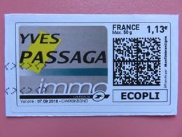 Montimbrenligne - Yves Passaga Immo - Lettre Ecopli Max 50 G - 1,13 € - Sur Fragment - France