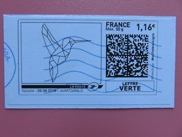 Montimbrenligne - Oiseau à Colorier - Lettre Verte Max 50 G - 1,16 € - Sur Fragment - Personalized Stamps (MonTimbraMoi)