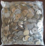 Vrac Important (+ De 4,5 Kg) - Monnaies France Principalement + Qqles étrangères - 20e Siècle - A Trier - Monnaies & Billets