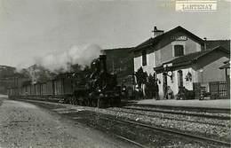 01 Lantenay  Photo De La Gare Train - Autres Communes