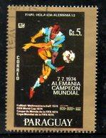 PARAGUAY. N°1593 De 1977 Oblitéré. Allemagne Vainqueur. - Coppa Del Mondo