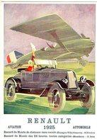 Renault - 1925 - Aviation - Automobiles   -  Publicité  -  CPR - Voitures De Tourisme