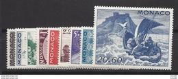 Monaco Année Complète - YT N° 265 à 273 - Neuf Avec Charnière - 1944 - Monaco
