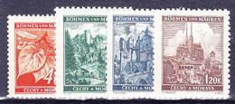 Boheme Et Moravie 1940 Mi 38-41 (Yv 42+47-50), (MNH)** - Unused Stamps